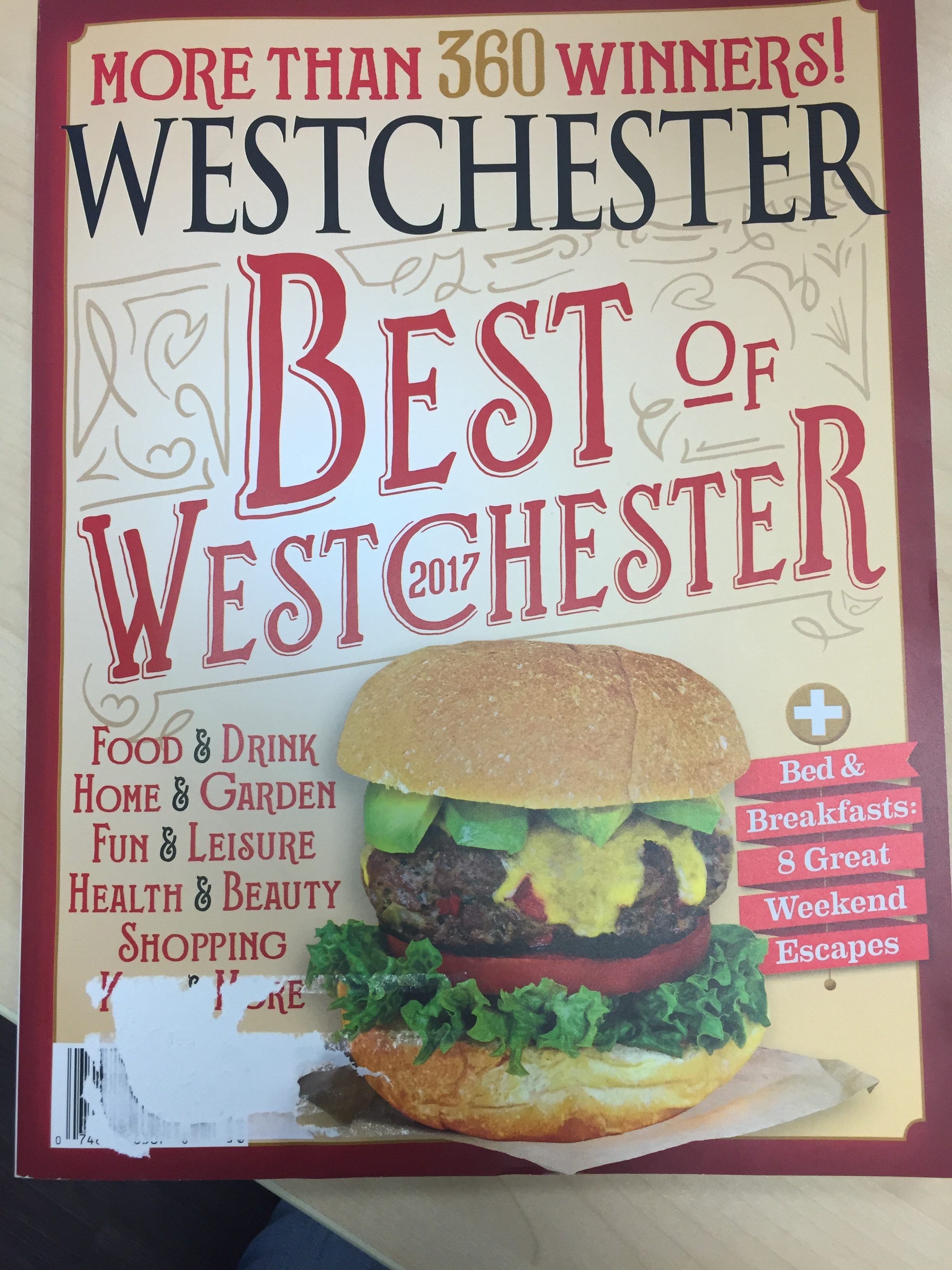 Best Of Westchester Cover