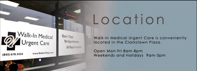 Walkin Medical Urgent Care Location Banner